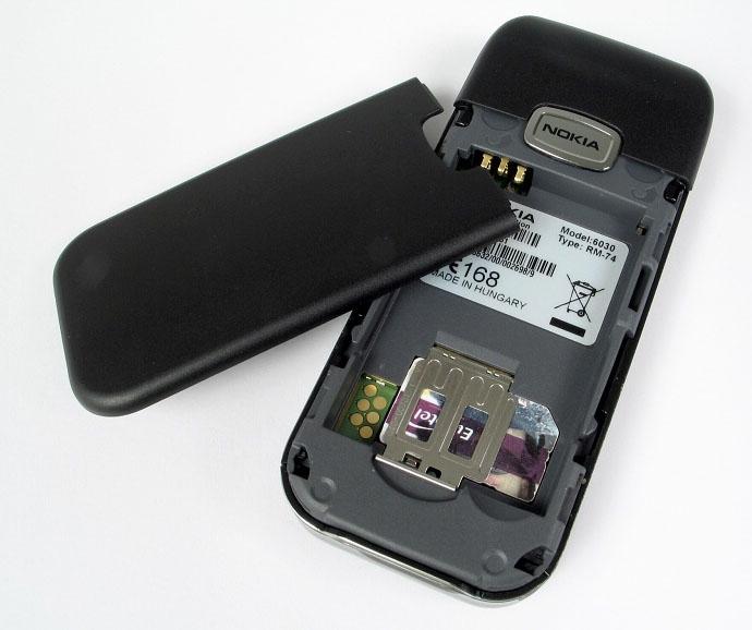Сотовый телефон nokia 6030.